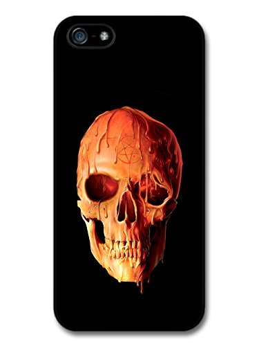 Melting Wax Skull with Pentagram Design on Black Grunge Style case for iPhone 5 5S