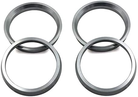LU HWN 4X4 66.6 to 57.1 Gray Aluminum Hub Centric Rings - Pack of 4 / LU HWN 4X4 66.6 to 57.1 Gray Aluminum Hub Centric Rings - Pack of 4