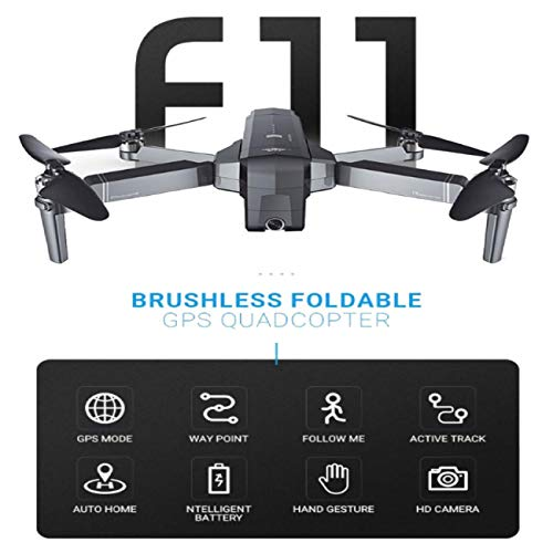 Cinhent New Upgrade High Performance SJRC F11 GPS 5G WiFi FPV 1080P HD Cam Foldable Brushless RC Aircraft Drone Quadcopter , Easy to Fly by Cinhent (Image #3)