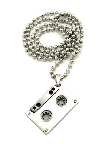 New CASSETTE TAPE Hip Hop Pendant &24
