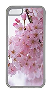 iPhone 5c Case Unique Cool iPhone 5c TPU Transparent Cases Cherry Pink Flowers Design Your Own iPhone 5c Case