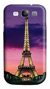 Eiffel Tower At Night Paris France Custom Polycarbonate Plastics Case for Samsung Galaxy S3 / S III/ I9300