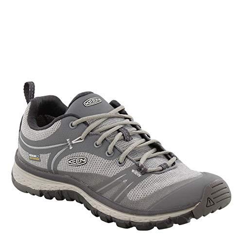 KEEN Women's Terradora Waterproof Hiking Shoe, Steel Grey/Magnet, 9.5 M US