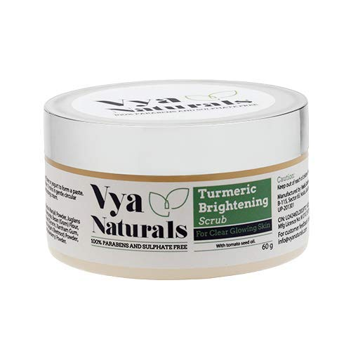 Amazon Com Vya Naturals Turmeric Face Scrub Dry Powder Exfoliant