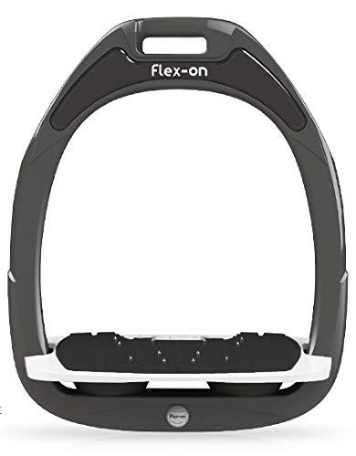 【 限定】フレクソン(Flex-On) 鐙 ガンマセーフオン GAMME SAFE-ON Mixed ultra-grip フレームカラー: ダーク グレー フットベッドカラー: ホワイト エラストマー: ブラック 06876   B07KMP4RT1