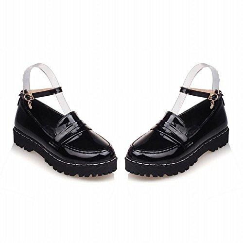 Scarpe Da Lavoro Eleganti Con Cinturino Alla Caviglia Per Donna Latasa, Scarpe Casual Comfort Nere