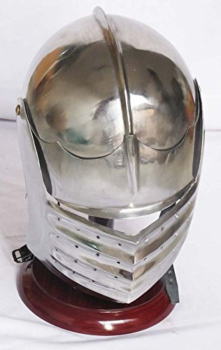 EUROPEAN ITALIAN CLOSE ARMOR HELMET MEDIEVAL KNIGHT VISOR HELMET COSTUME