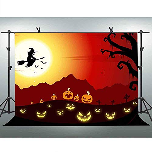 FLASIY 10x7Ft Halloween Theme Backdrop Photography Background for Party Decorations Studio Photo Prop PAY016