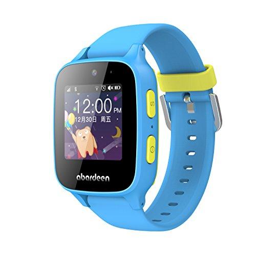 Abardeen B108 Waterproof GPS/GSM Smart Watch for Kids Children with GPS Tracker Camera SOS Anti Lost (Blue)