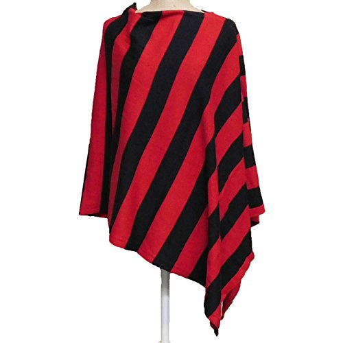 Tickled Pink Women's Wide Stripe, Red/Black, 26 x 67