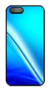 iPhone 5 5S Case Blue Split Background PC Custom iPhone 5 5S Case Cover Black