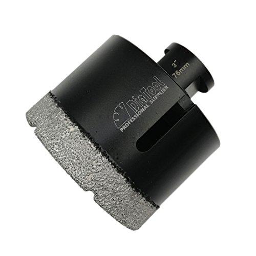 SHDIATOOL Diamond Drill Bits 3 Inch for Porcelain Ceramic Tile Marble Brick Vacuum Brazed Hole saw 76mm (Core Diamond Grinder)