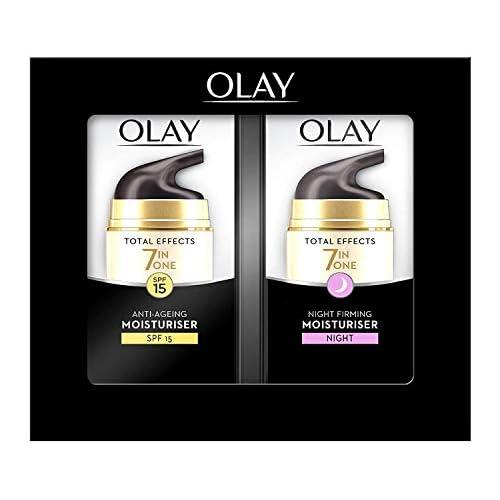 chollos oferta descuentos barato Olay Total Effects Anti Ageing 7 in 1 Set de Regalo Day Moisturiser 37 ml Night Firming Moisturiser 37 ml