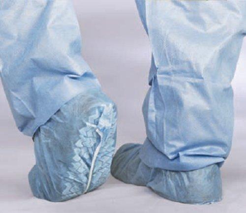 (Medline CRI2002 Polypropylene Non-Skid Shoe Covers, Spunbond, Latex Free, Regular/Large, Blue (Pack of)