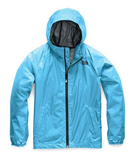 The North Face Kids Boy's Zipline Rain Jacket (Little Kids/Big Kids) Turquoise Blue - Childrens Embroidered Clothing