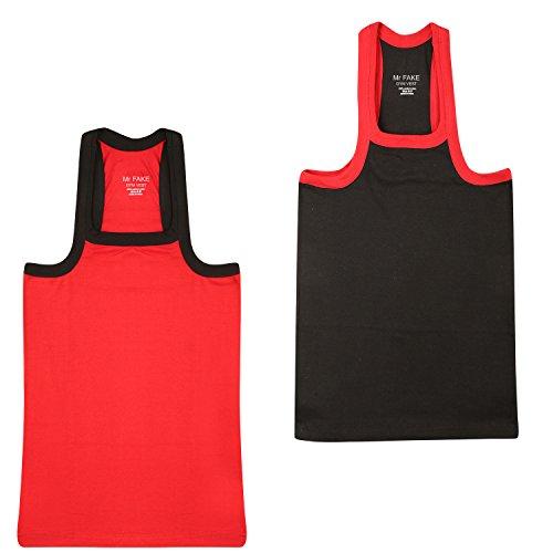 Mr.FAKE Men #39;s Cotton Gym Vest Pack of 2