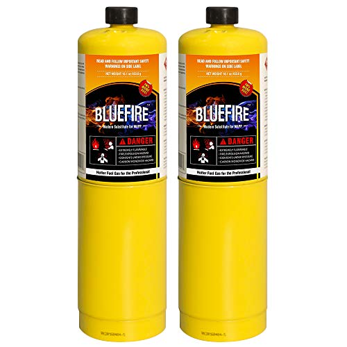 Pack of 2, BLUEFIRE Modern MAPP Gas Cylinder, 16.1 oz, 14% More Bonus Fuel than MAP/PRO, Hotter than Propane! Variation of Quantity Bundles Available (2) by MR. TORCH (Image #7)
