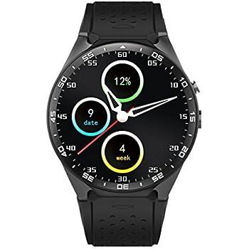 Amazon.com: ZIMINGU KW88 3G Smart Watch Phone Luxurious ...
