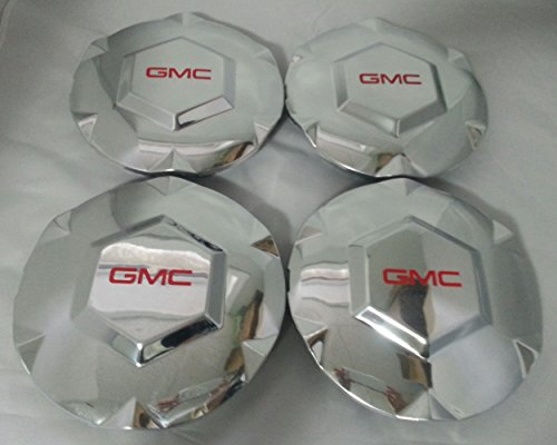 2002 2003 2004 2005 2006 2007 GMC Envoy New Polished Silver Wheel Center Caps (Set of 4) - Will fit 6 LUG Polished Aluminum/Alloy 17
