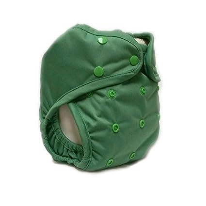 Uno de los tamaño de la bolsa de pañales abrir y cerrar la tapa kissa es