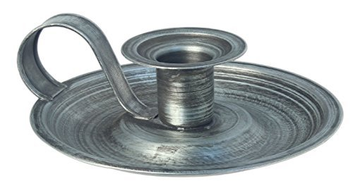 (The Country House Collection,Brushed Metal Taper Candle Holder,Silver,5