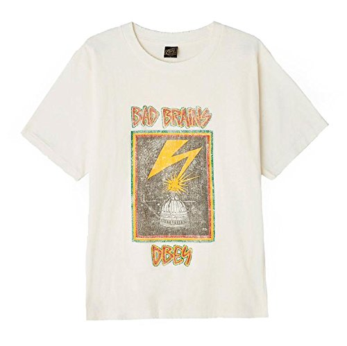 Camiseta Obey Bad Brains x Obey World Tour 89 Dusty Off White