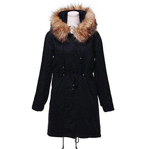 Épais D'agneau Femmes Mode Long D'extérieur Coton Femme Manteau 1OqS4pwx