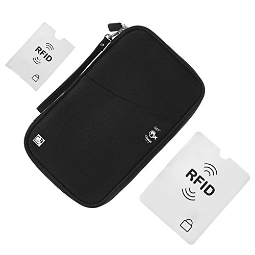 S&T Voyage RFID Protection Family Passport Holder with RFID Blocking Sleeves