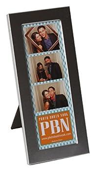 Brushed Silver Designer Metal Photo Booth Frame - Single Frame