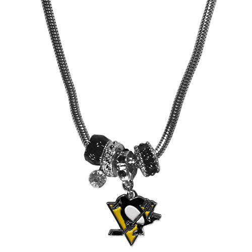 NHL Pittsburgh Penguins Euro Bead Necklace, 18-Inch (Penguins Pittsburgh Clock)
