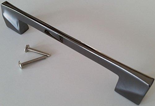 Möbelgriffe Bügelgriff BA 128mm schwarzchrom Kommodengriffe Küchengriffe *1382