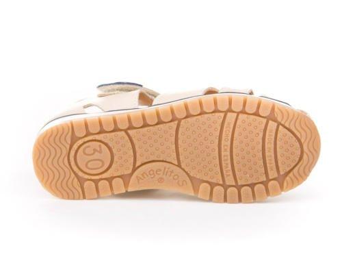 Sandalias Deportivas para Niños, Todo Piel mod.449. Calzado Infantil Made in Spain, Garantia de Calidad. Beige