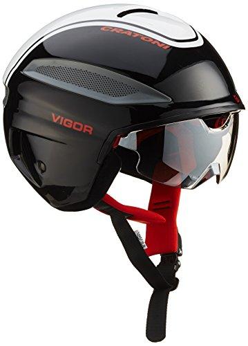 Cratoni Fietshelm Vigor, zwart-wit-rood glossy