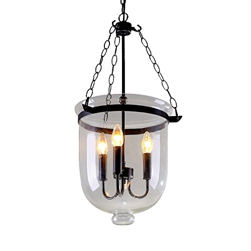 Bell Jar Glass Pendant Light