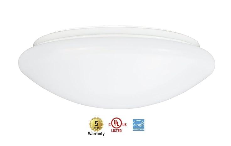 Asd 10 Inch Led Flush Mount Ceiling Light Fixture 13w Dimmable 4000k Bright White