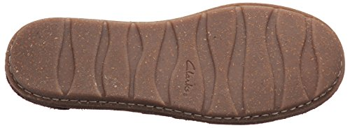 Clarks Womens Tamitha Aster Mary Jane Flat, Dark Brown Suede, 9.5 W US