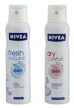 Nivea FRESH NATURAL & DRY COMFORT Anti-perspirant Spray 150 ML (Pack of 2)