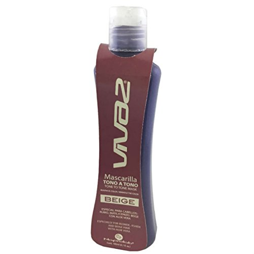 Vivaz. Tone to Tone. Hair Mask Color Beige, Specially for Blonde, Ashen And Beige Hair. With Aloe Vera by Vivaz
