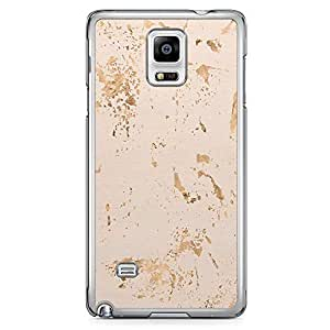 Samsung Note 4 Transparent Edge Phone Case Texture Gold Phone Case Grey Beige 2D Note 4 Cover with Transparent Frame
