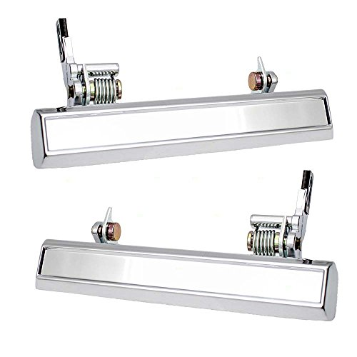 erior Front Chrome Door Handles Replacment for 70-81 GM Various Models 3060797 9827570 ()