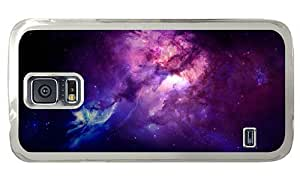 Hipster shop Samsung Galaxy S5 Cases space purple nebula 1 PC Transparent for Samsung S5