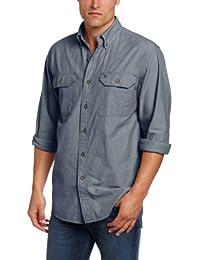 Carhartt Mens Long-Sleeve Lightweight Chambray Button-Front Relaxed-Fit Shirt S202