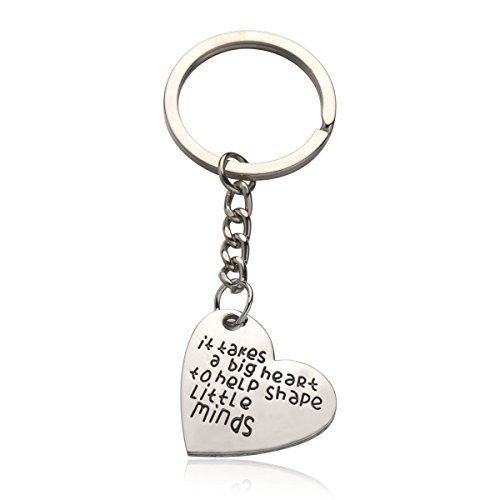 Personalized Heart Charm Ring (UdobuyPersonalized Teacher Gifts Keychain