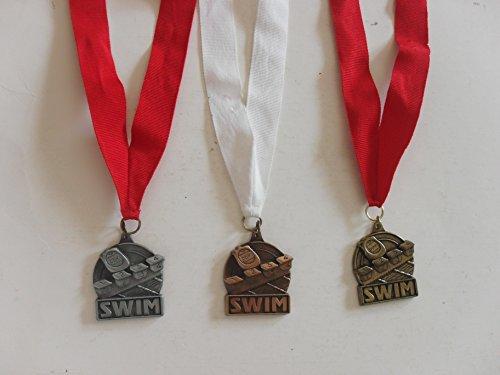 3 swim medals (copper, silver and bronze)
