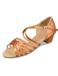 Minitoo TH010 Women's Classic Satin Latin Salsa Ballroom Dance Shoes