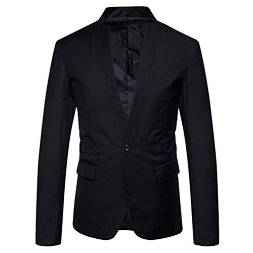 Veste Casual Slim Blouse Survêtement Bouton La Schwarz Costume Fit Solide Marque Hommes Tenues Un Mode 5fB80Bx