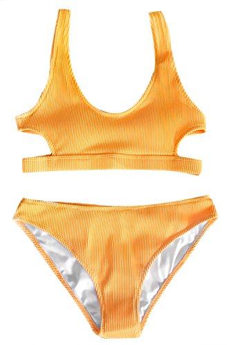 CUPSHE Fashion Womens Abstract Print Tank High Waisted Bikini Set Beach Swimwear Bathing Suit