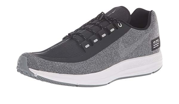 release date: 3da6e 2775d Nike Mens Air Zoom Winflo 5 Shield Running Shoes (10, BlackSilverGrey)