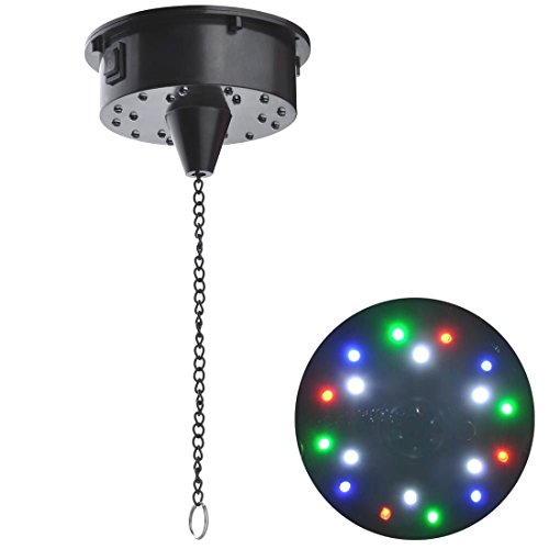 6RPM RGBW Light Rotating Motor 18LEDs For Mirror Disco Ball 6