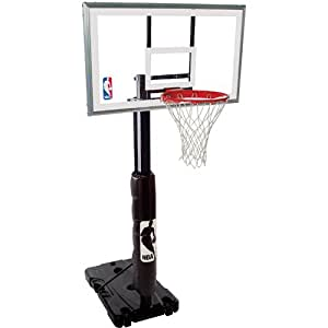 Spalding NBA 68395R Portable Basketball Hoop with 54 Inch Polycarbonate Backboard